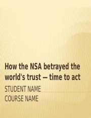 How the NSA betrayed the world's trust — time to act