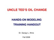 UNCLE TED - HANDS-ON TRAINING