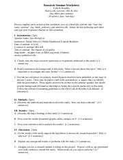 C&H-Research Seminar Worksheet