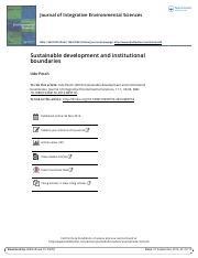Sustainable development and institutional boundaries.pdf