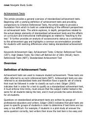 Achievement Tests Research Paper Starter - eNotes.pdf