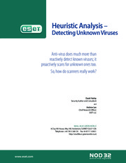 2007 - ESET_Heuristic-Analysis_- Detecting Unknown Viruses