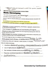 media stereotyping notes