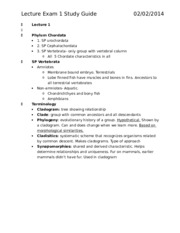 Lecture Exam 1 Study Guide