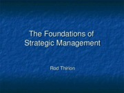 The Foundations of Strategic Management