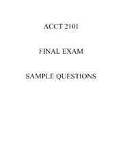 ACCT+2101+Sample+Final+Exam+Questions