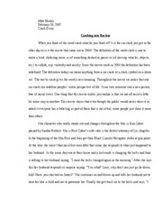 crash essay