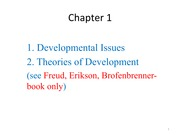 Theories od Development in Developmental Psychology