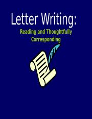 LetterWriting.ppt