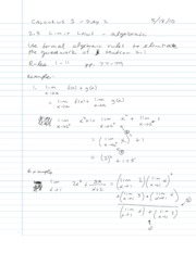 2.3 - Calculuating Limits Using the Limit Laws