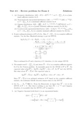 Exam 2 Review Solution