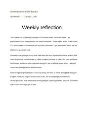 Weekly reflection.docx