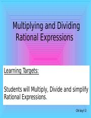 Multiplying & Dividing Rational Functions (1).ppt