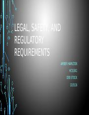 Legal, safety, and regulatory Presentation