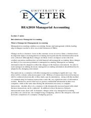 1 What is Managerial Accounting