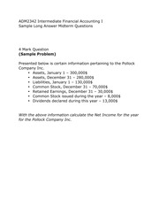 Intermediate Accounting Sample Problem 4 (Practice)