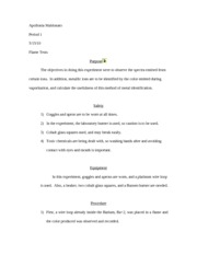 flame test lab report HS Chem Flame Test Lab Report - Apollonia Maldonato Period 1 Flame ...