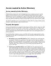 Access control in Active Directory