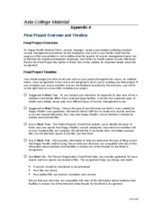 WK 1 Appendix A final project overview and timeline