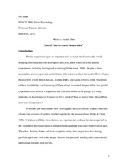 PSYCH 2800 research paper
