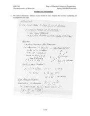 MSE 308 Problem Set 10 Solutions