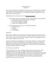 Sample Study Guide