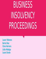 BUSINESS INSOLVENCY PROCEEDINGS (2)