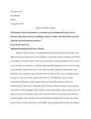 Official Final Draft of Personal Statement Essay
