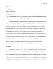 Poetry final essay