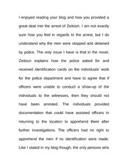 Essay on Arrests