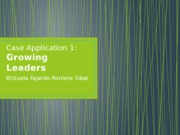 Case Application 1 Growing Leaders