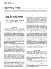 Modeling the Benchmark Active Controls Wing Through Linear and Computational Aeroelastic Analyses