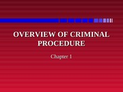 Overview of Criminal Procedure Lecture Slides