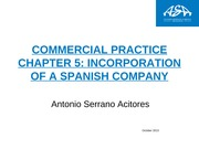 Chapter 5 Incorporation of a Spanish company