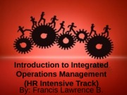 Introduction to Integrated Operations Management HR 2 (2)