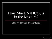 How much NaHCO3 is in the Mixture_113 Prelab-1