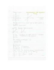Applied Math - Tramsformation and Equation Solving Lecture Note