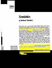 Barthes Semiotics