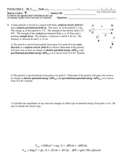 Electrical and Gravitational Fields, Potential Energies