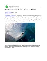 Week 3 Surfrider Foundation Waves of Plastic.docx