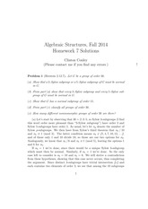 MATH 373 Fall 2014 Homework 7 Solutions