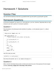 cs61a homework solutions fall 2016
