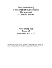 2003 Fall Accounting_011_exam_2___Fall_2003_answer_key
