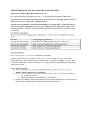 Additional Requirements Assessment 4(1)