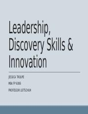 Leadership, Discovery Skills & Innovation