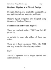 CPE 100 Lecture notes #3 boolean algebra and circuit design