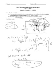Quiz 1 (Version A) with Solutions