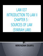 CHAPTER 5 (SYARIAH LAW)
