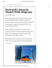 Bertrand's Duopoly Model (With Diagram).pdf