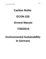 Environmental Sustainability in germany